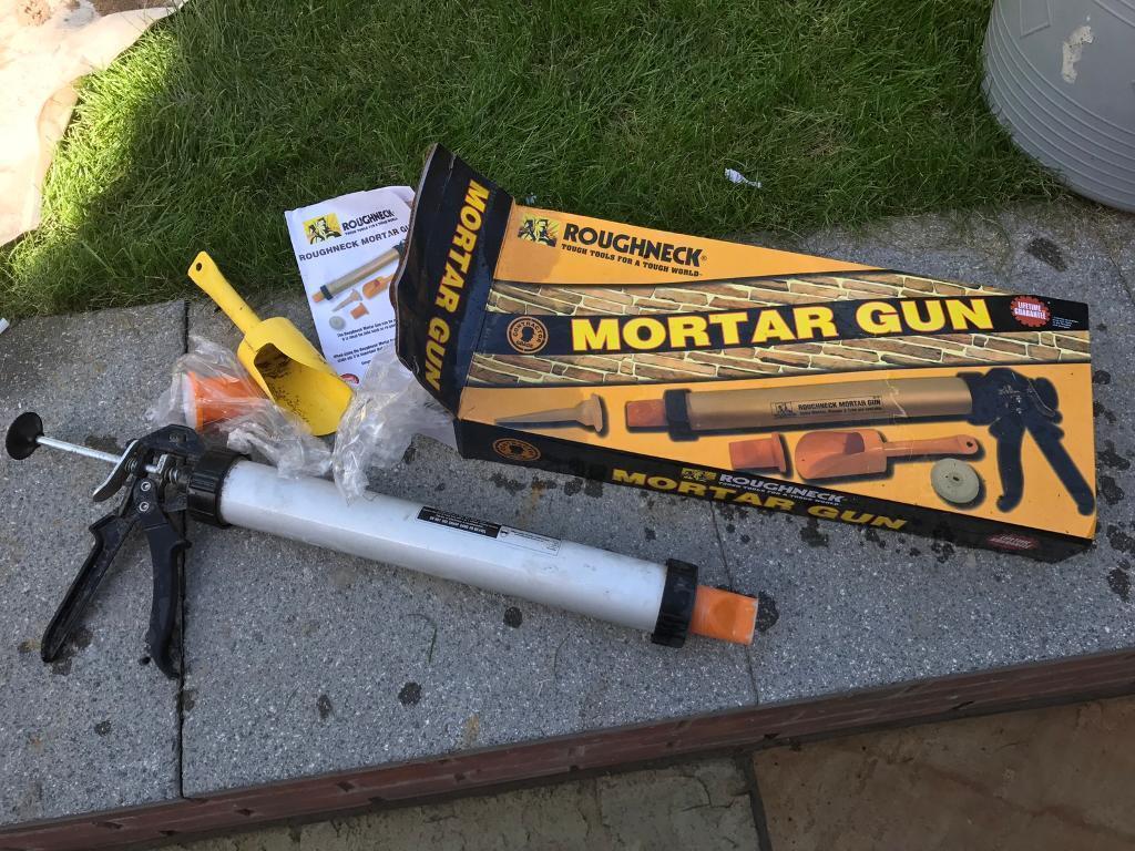 roughneck brick mortar gun instructions