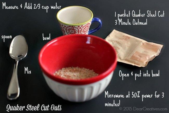 quaker oats porridge cooking instructions