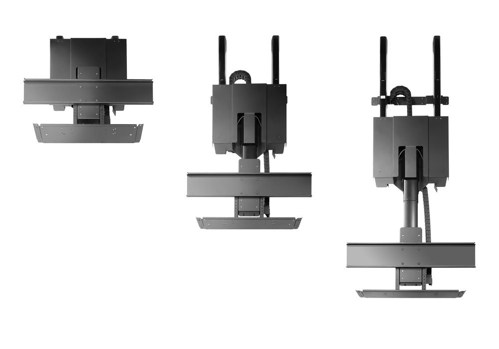 electric motorized flip down pitched roof ceiling tv mount instruction