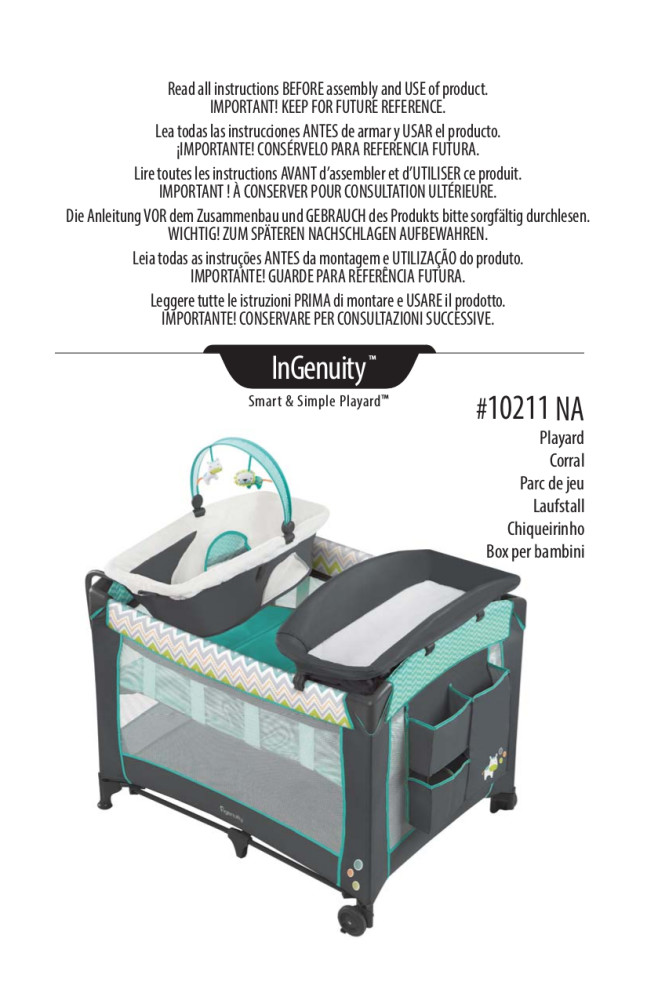 ingenuity smart and simple playard ridgedale instructions