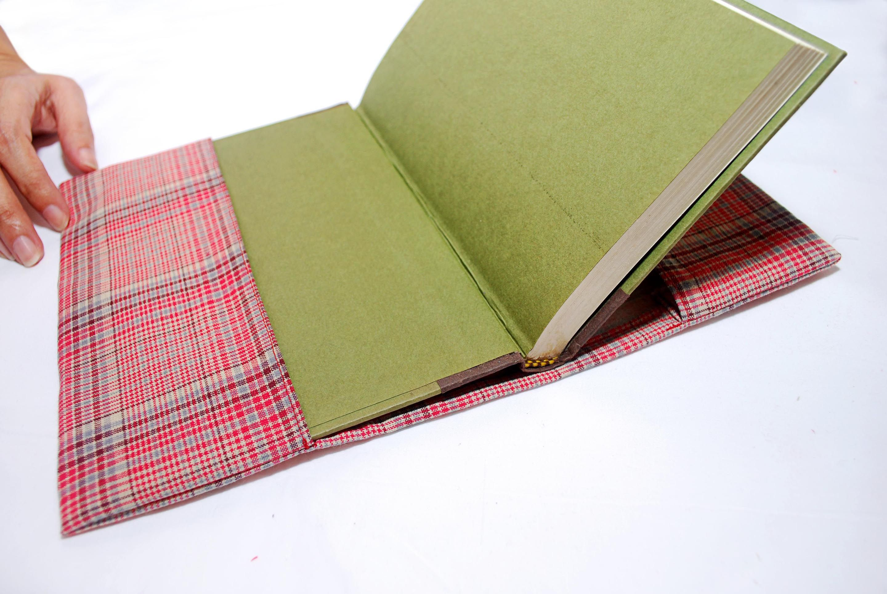 how to make a paper bag book cover instructions