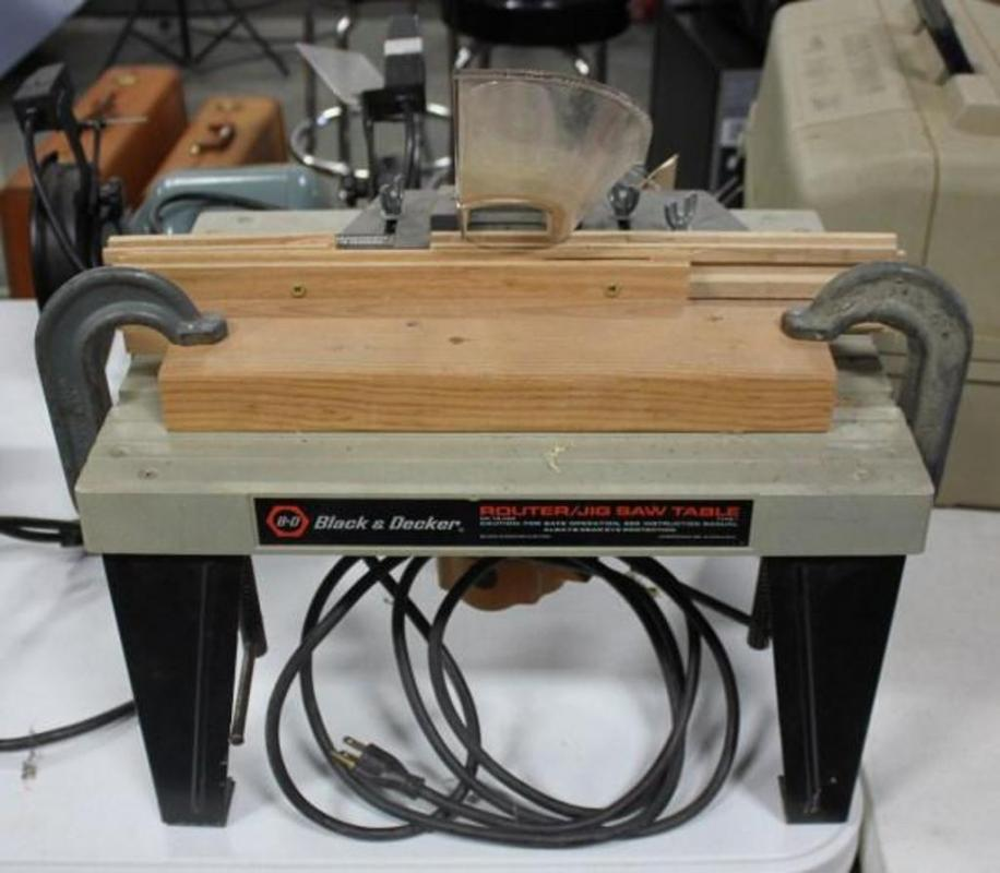 black and decker router table instructions