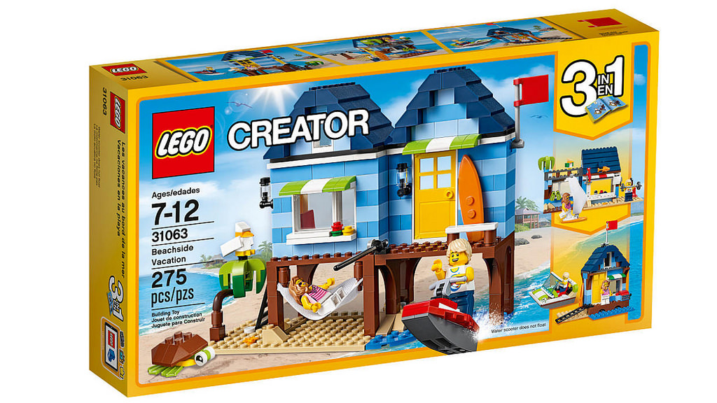 lego beach hut and beachside vacation set combined instructions