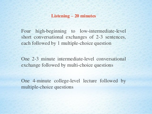 toefl listening to lecture instructions