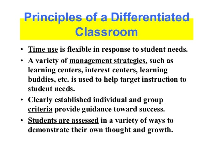 8 principles of differentiated instruction