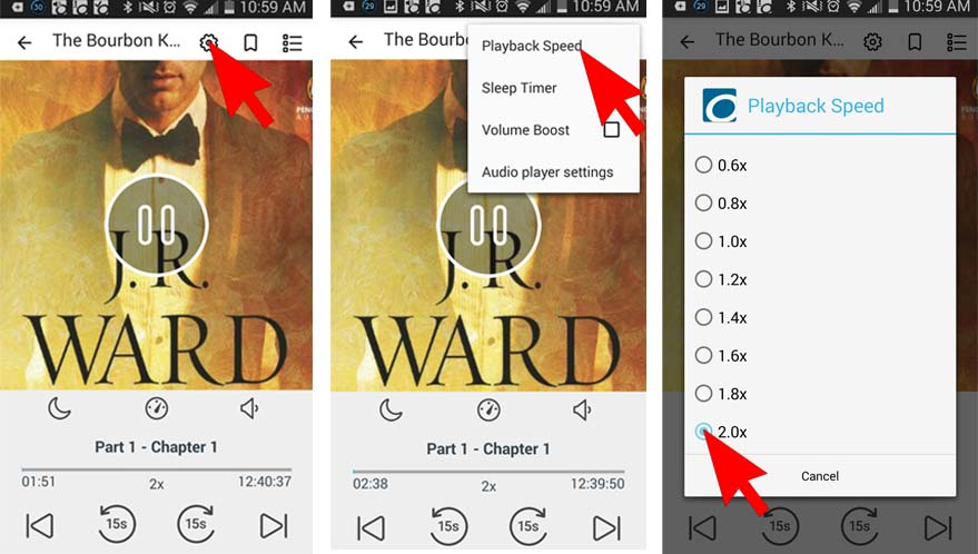 playaway audio books instructions