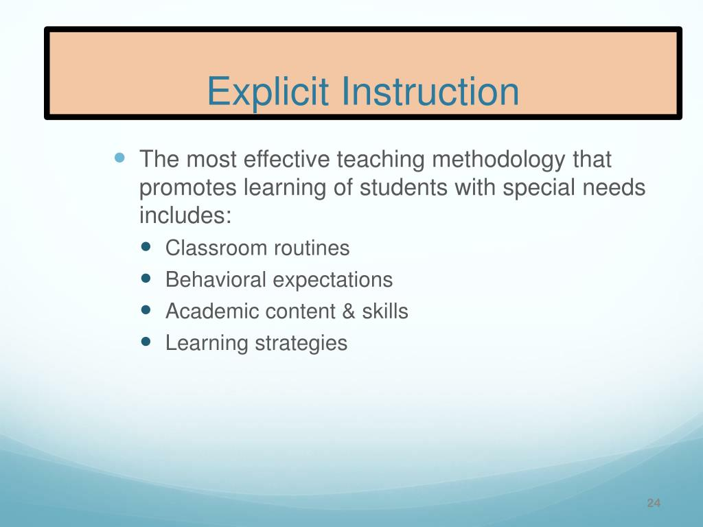 explicit instruction effective and efficient teaching 2011 ppt