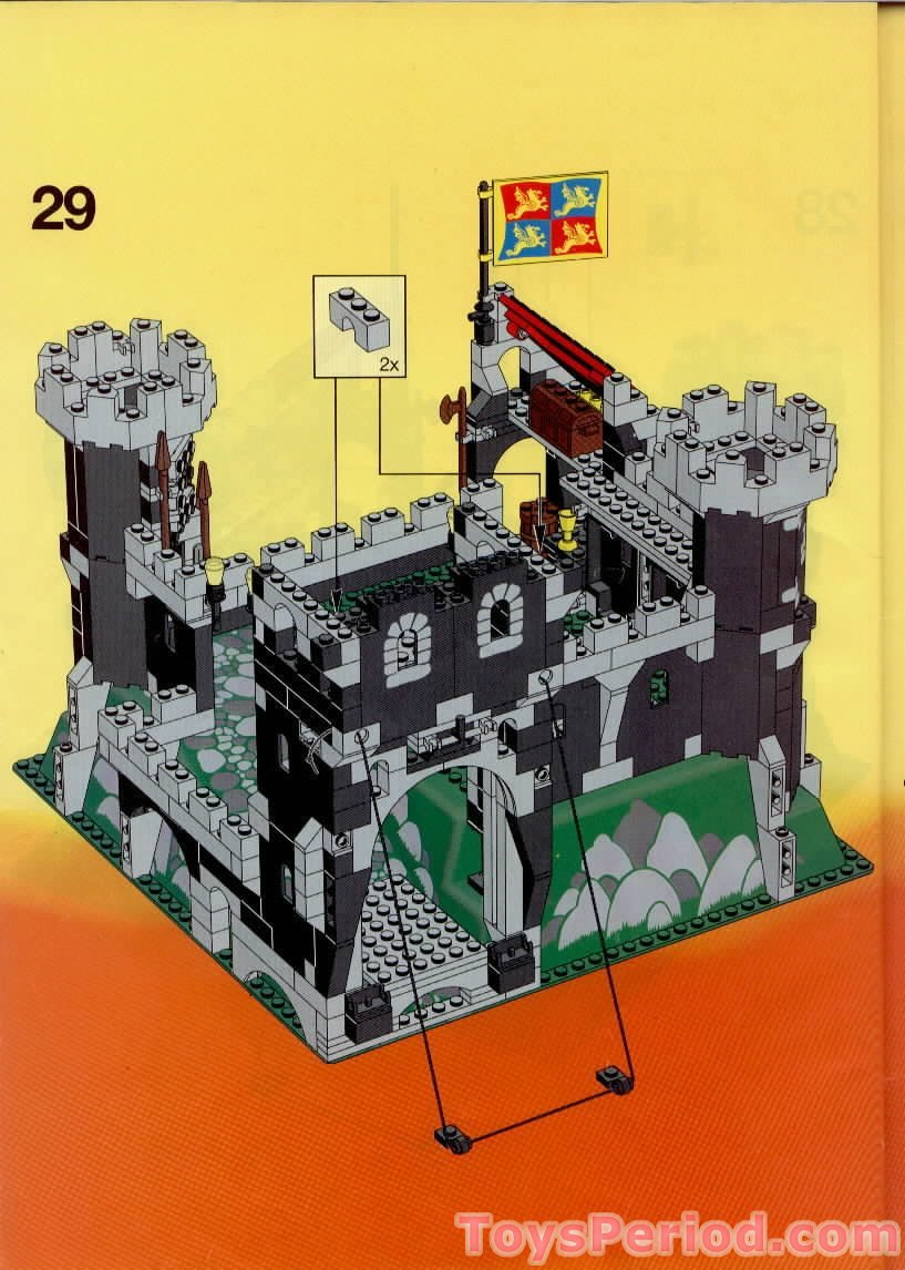 lego castle chess set instructions