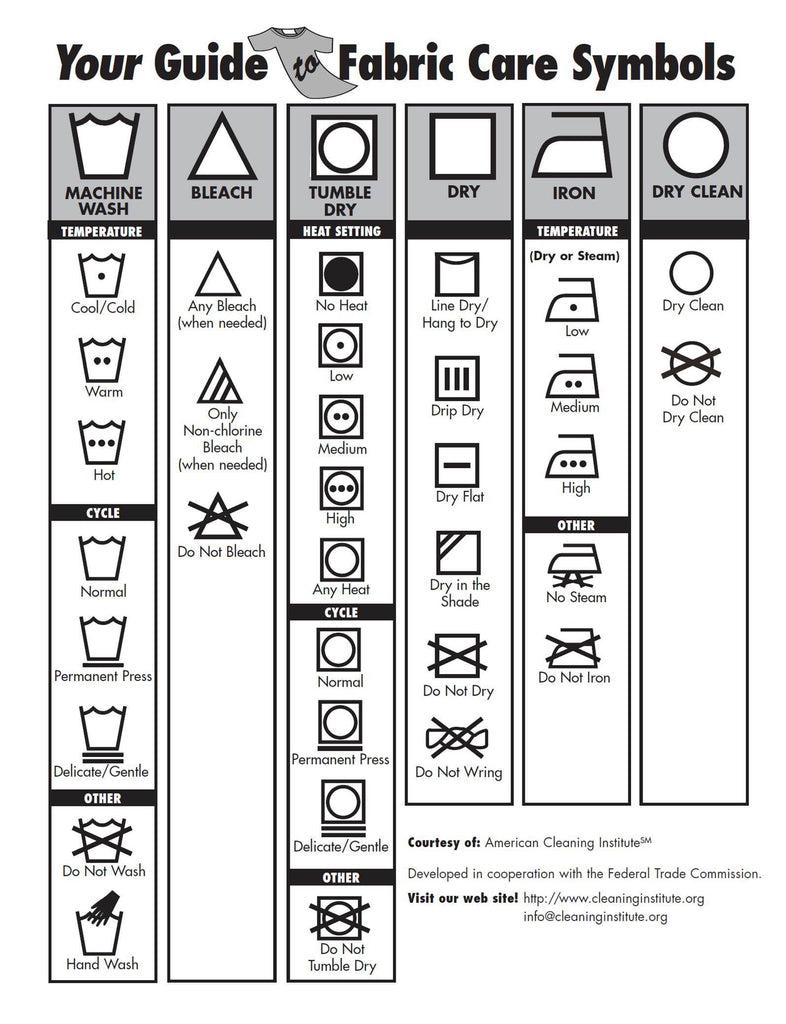 washing instruction symbols korean