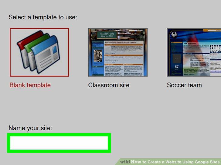 how to make a google site instruction