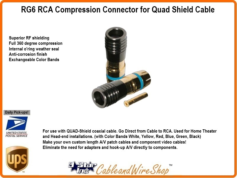 rca compression connector instructions