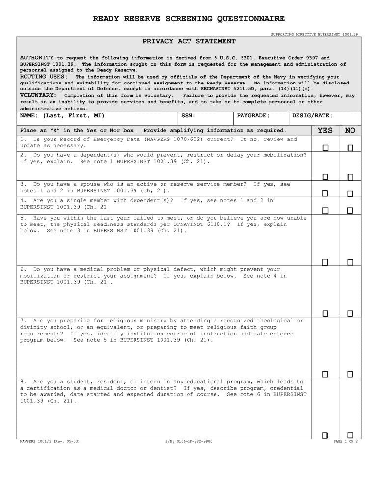 navy suitability screening instruction