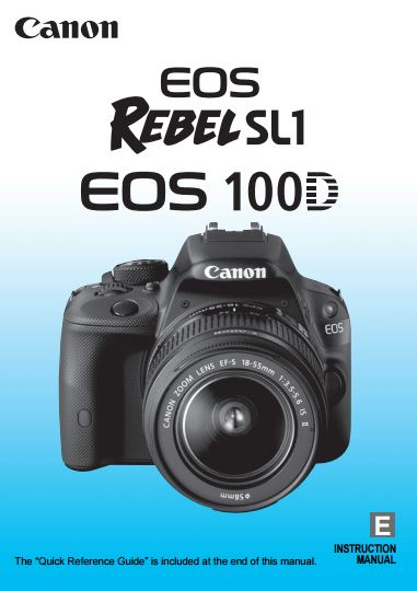 canon eos rebel sl1 camera instruction manual