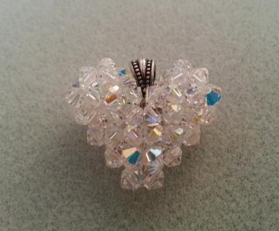 swarovski crystal heart pendant instructions