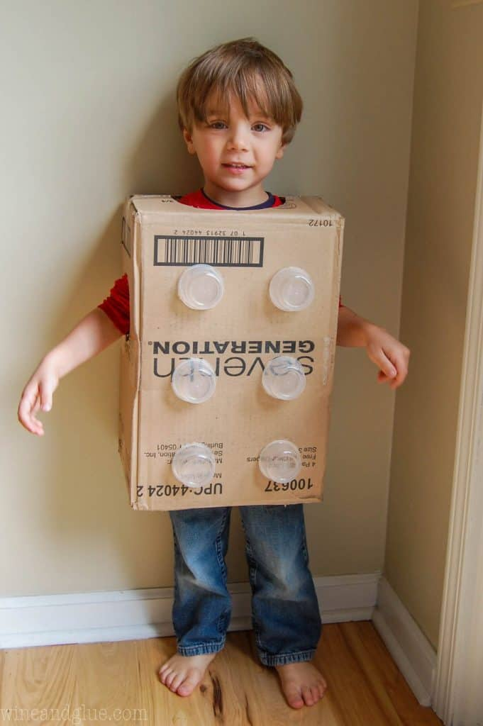 diy lego costume instructions