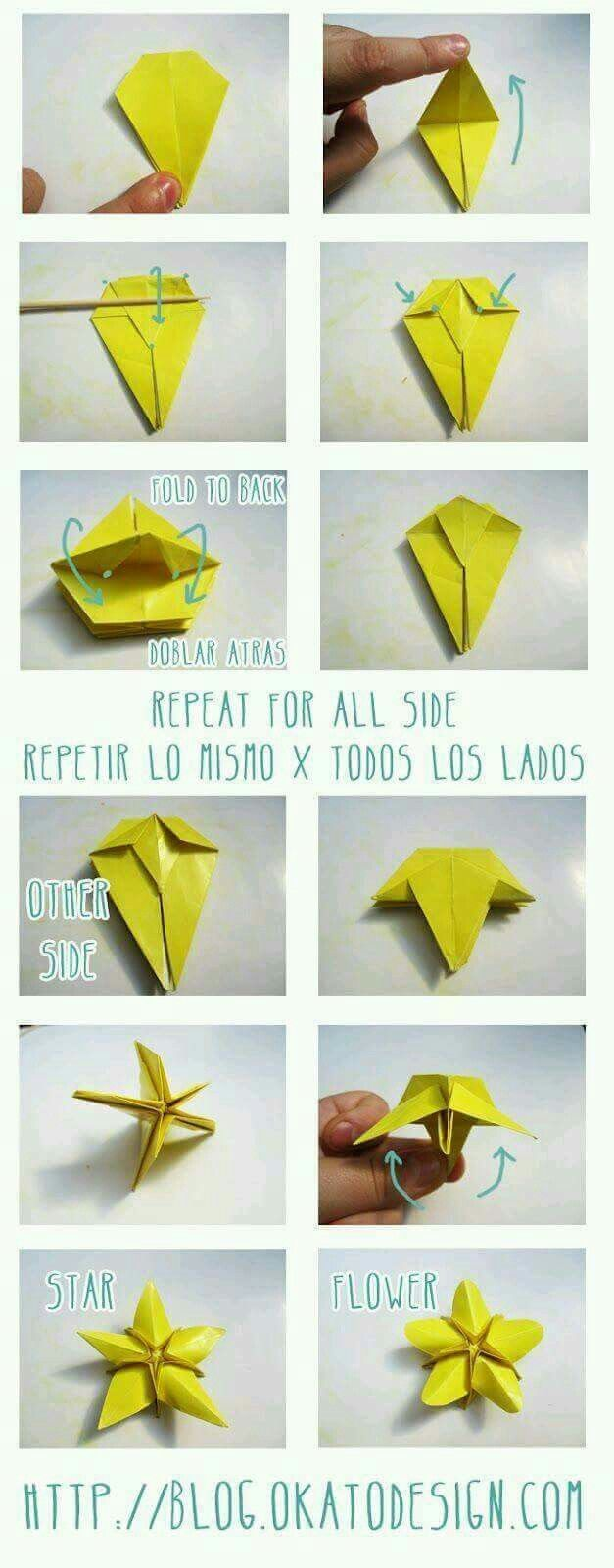 folding paper star instructions